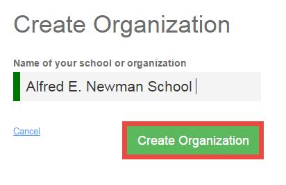 create Org